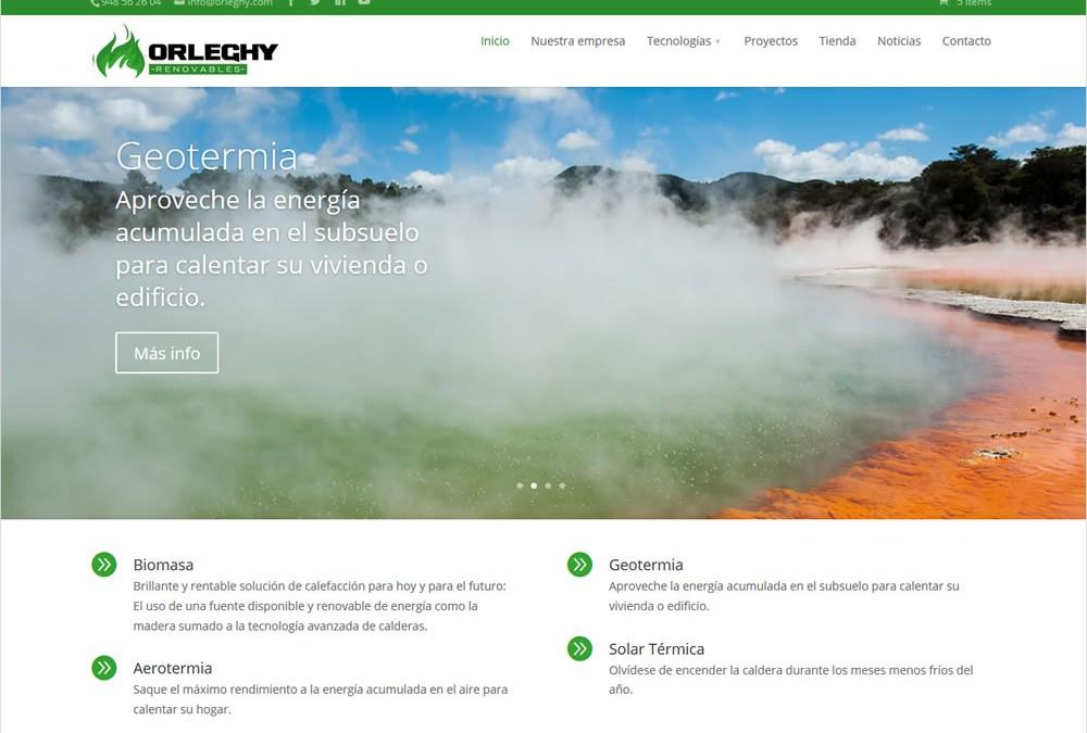 Orleghy Renovables renueva su web