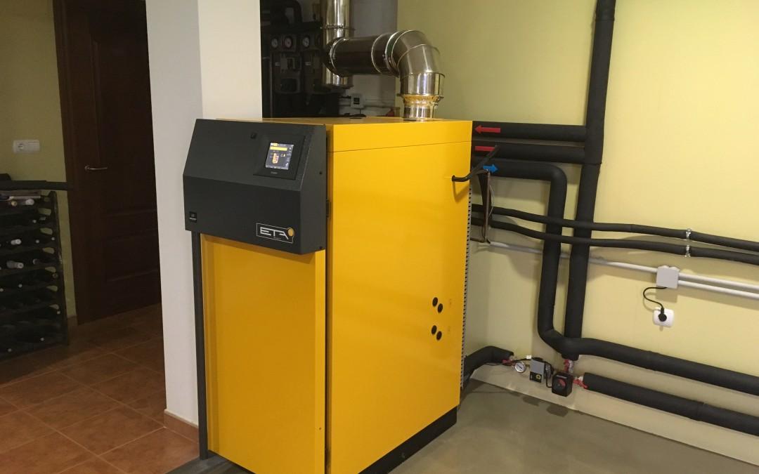 Circuito Olaberria : Caldera de gasificación leña en asteasu orleghy