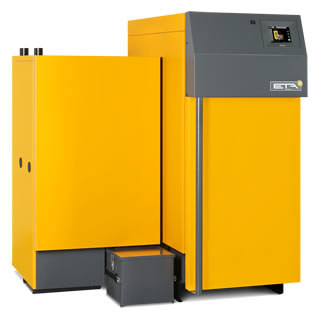 Caldera de astillas y leña ETA TWIN 20 Y 26 kW