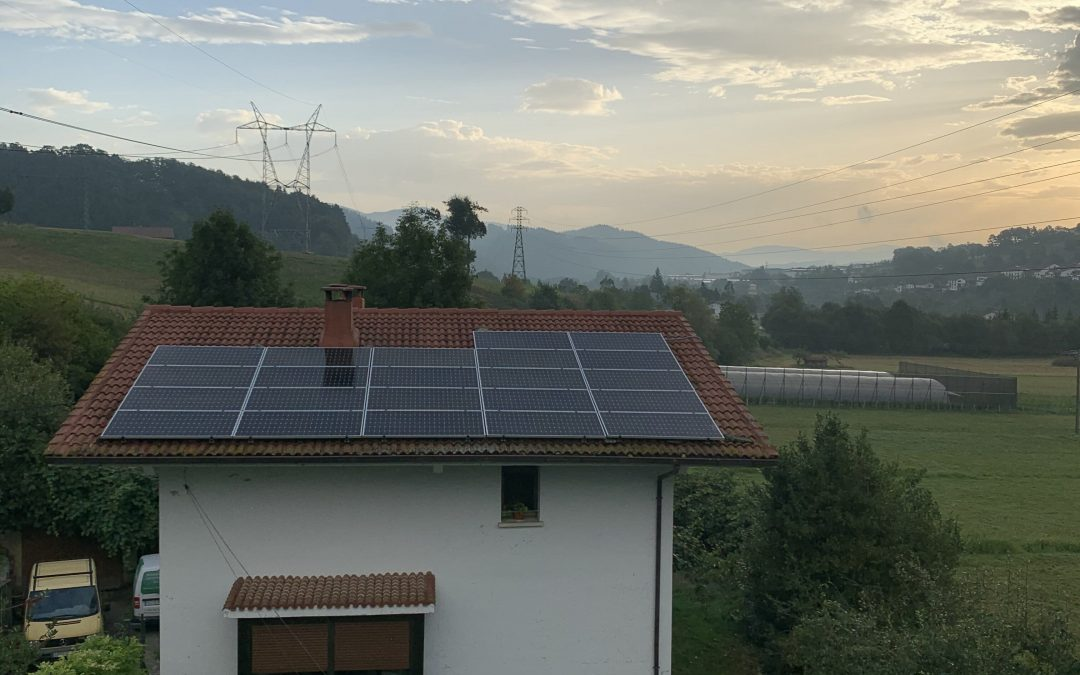 Instalación fotovoltaica en Zerain