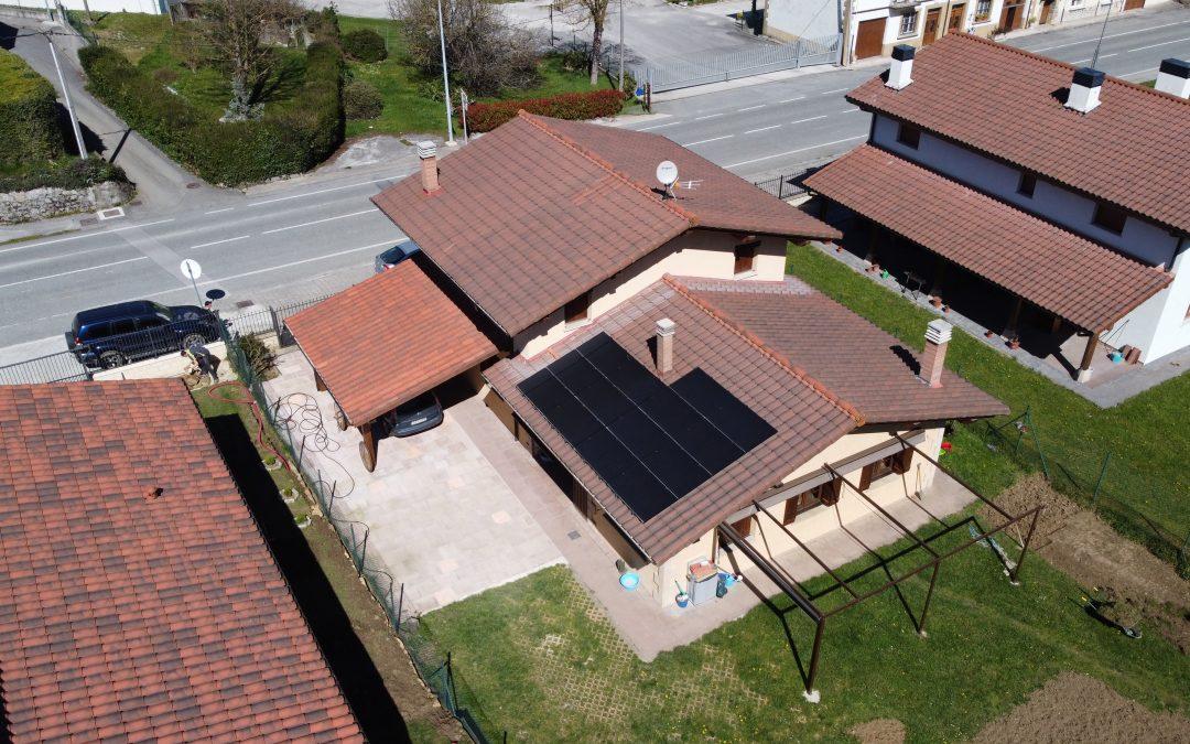 Instalación fotovoltaica en Olazti